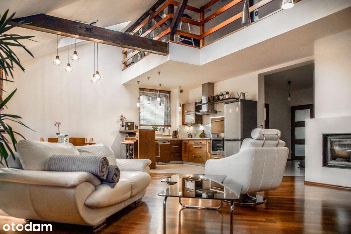 Rewelacyjne dwupoziomowe mieszkanie z garażem