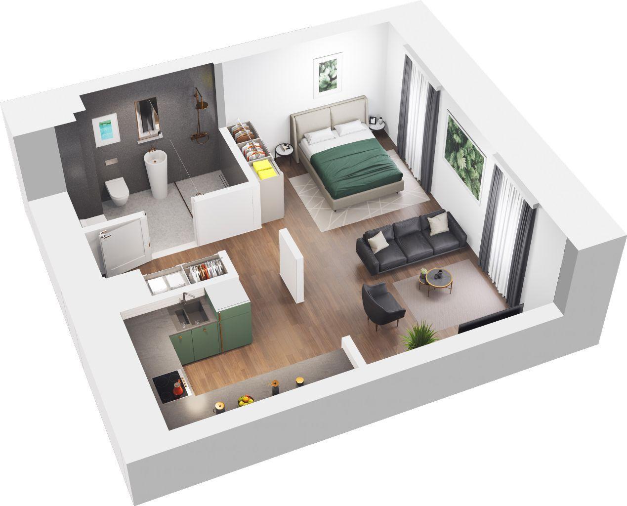 Nowe mieszkanie przy EC1, Kawalerka Tuwima 48