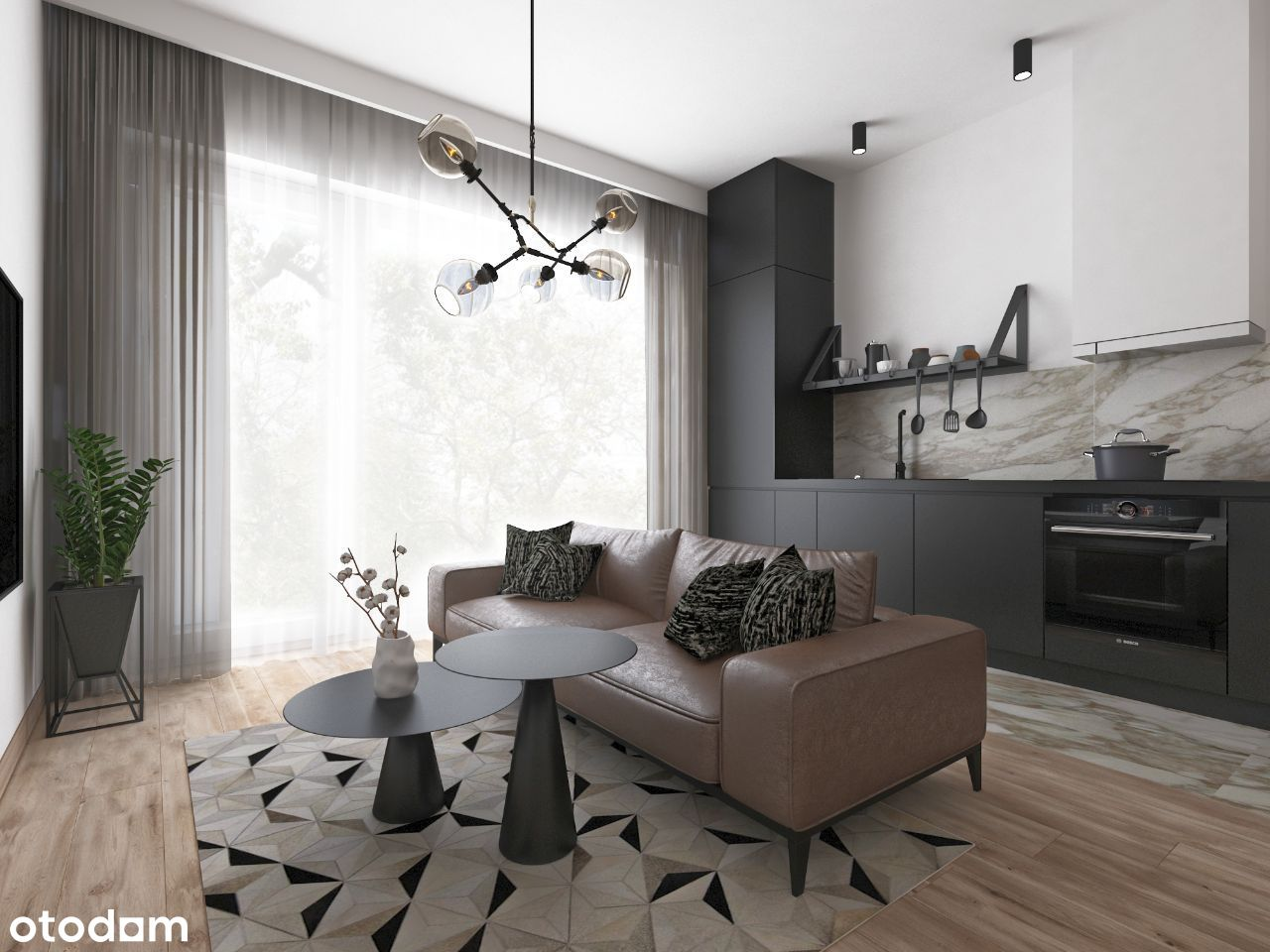 Apartament 3-pokojowy 53,06 m2 z dużym tarasem