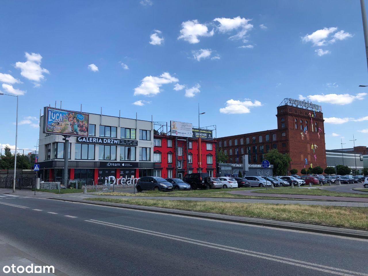 Lokale uż. centrum Łódź Manufaktura parter witryny