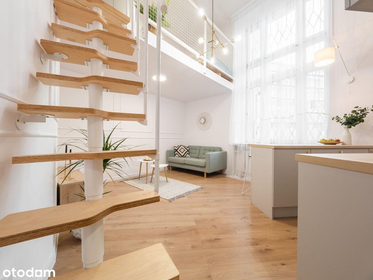 Nietuzinkowe mieszkanie z antresolą w Centrum mias
