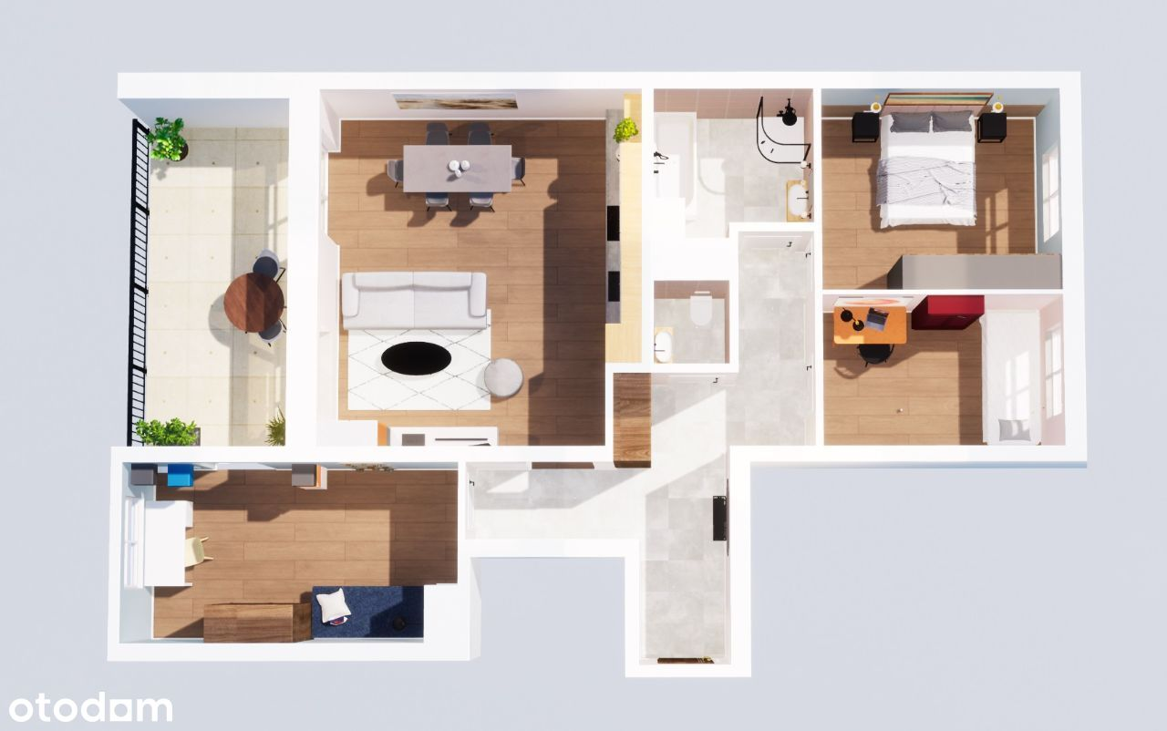 Wygodny i komfortowy 30 m2 salon + 16 m2 taras