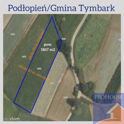 Działka, 1 800 m², Tymbark