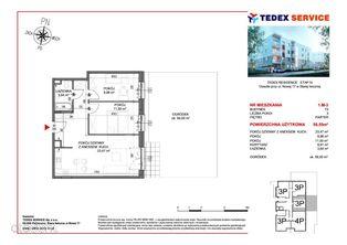 Przytulne mieszkanie 58,55mkw Residence IV, M3