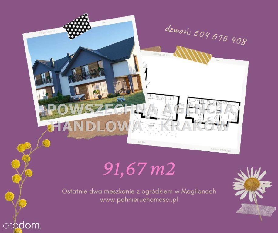 Mieszkanie, 91,67 m², Mogilany