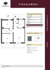 Strzałowska, 1. pietro, 63mkw, 3 pokoje