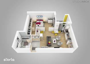 Apartament 2 camere, cu dressing si birou in Vivalia Grand V6, Iulius