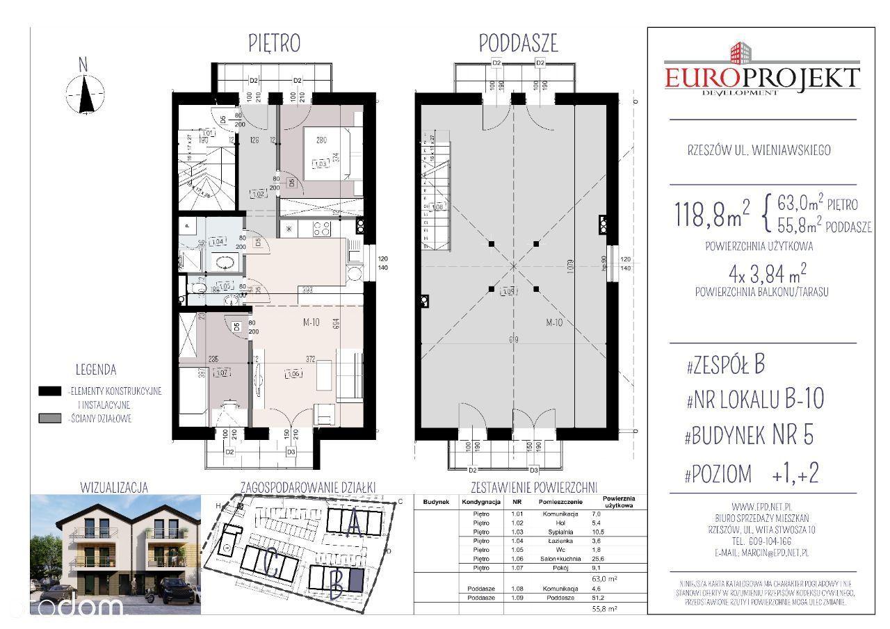 Mieszkanie dwupoziomowe -B/10 - Przedsprzedaż