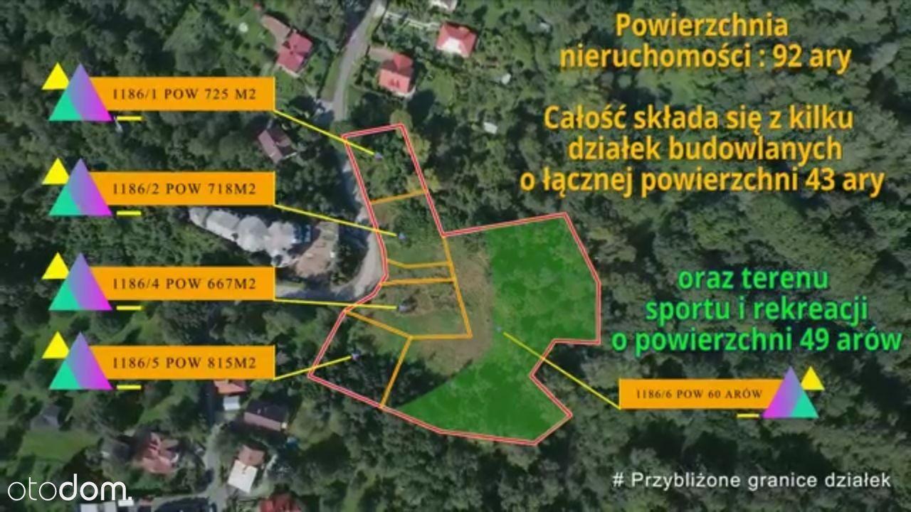 Działki dla dewelopera z okolic Wieliczki