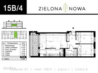 Nowe mieszkanie [15B/4] - osiedle ZIELONA NOWA