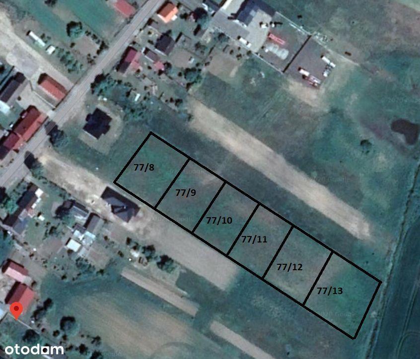 Działki budowlane Gleźno 1261 m2