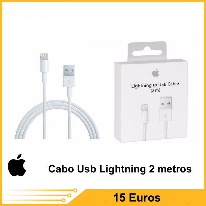 Cabo Lightning usb 2M ou 1M. iPhone 5/5S/5C/6/6P/6S/6SP Original