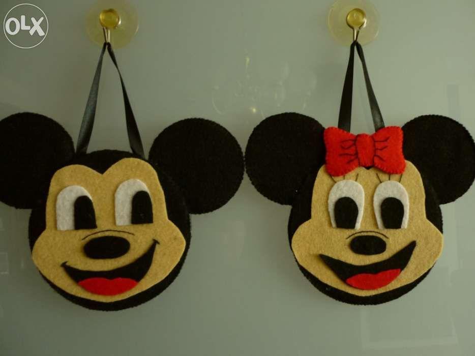 Mickey e Minnie - quadros/ penduricos para quarto de crianças