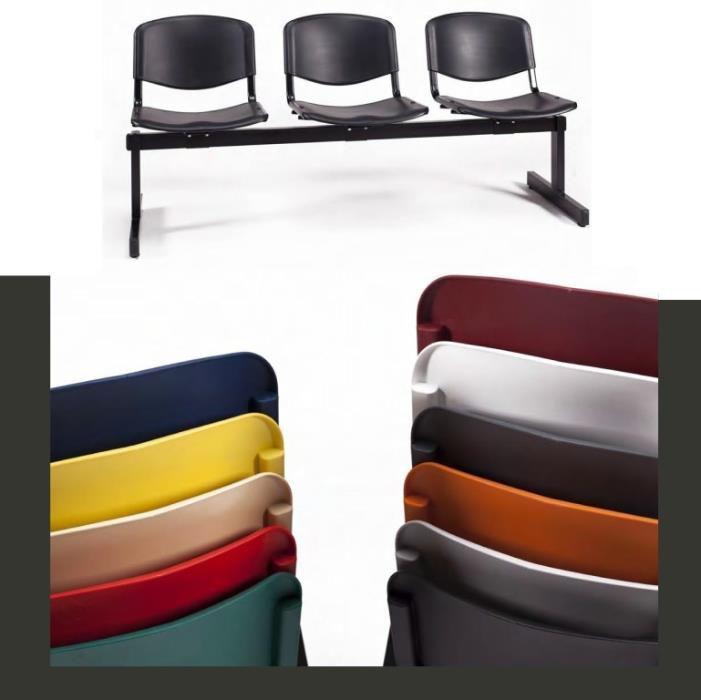 Cadeira em viga 2 lugares em polipropileno cor a defenir Nova