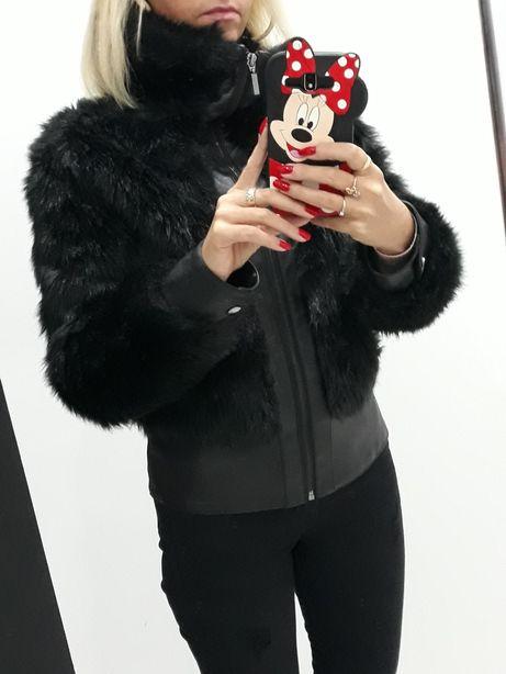 kurtka reserved damska czarna 2016 zima