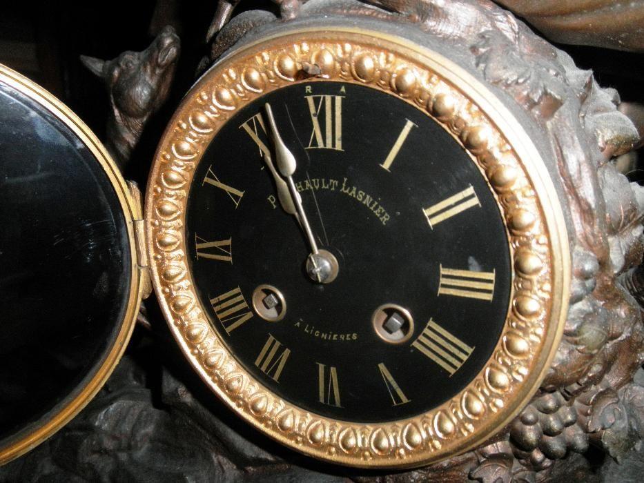 ffdd54d2b41 Relógio de Mesa Pinchault Lasnier - Guimarães - Belo relógio de mesa em  bronze de arte