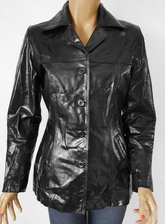 kurtka skórzana czarny pół połysk