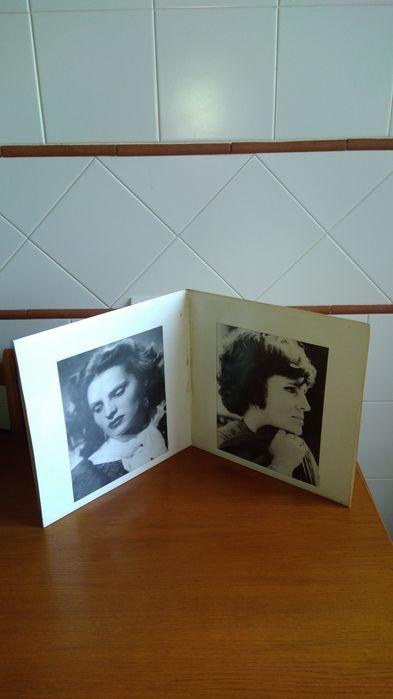 Vendo um álbum composto por 2 discos de vinil de 33 rotações.