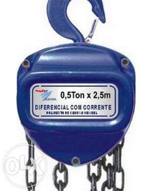 Guincho Garibalde Diferencial Manual de corrente 1,5 toneladas 3metros