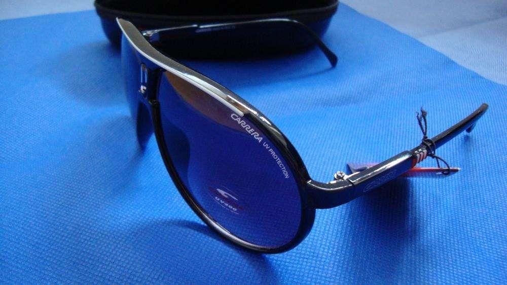 dda3c632071dd Óculos Carrera Champion preto brilhante com risca Branca Amadora - imagem 6