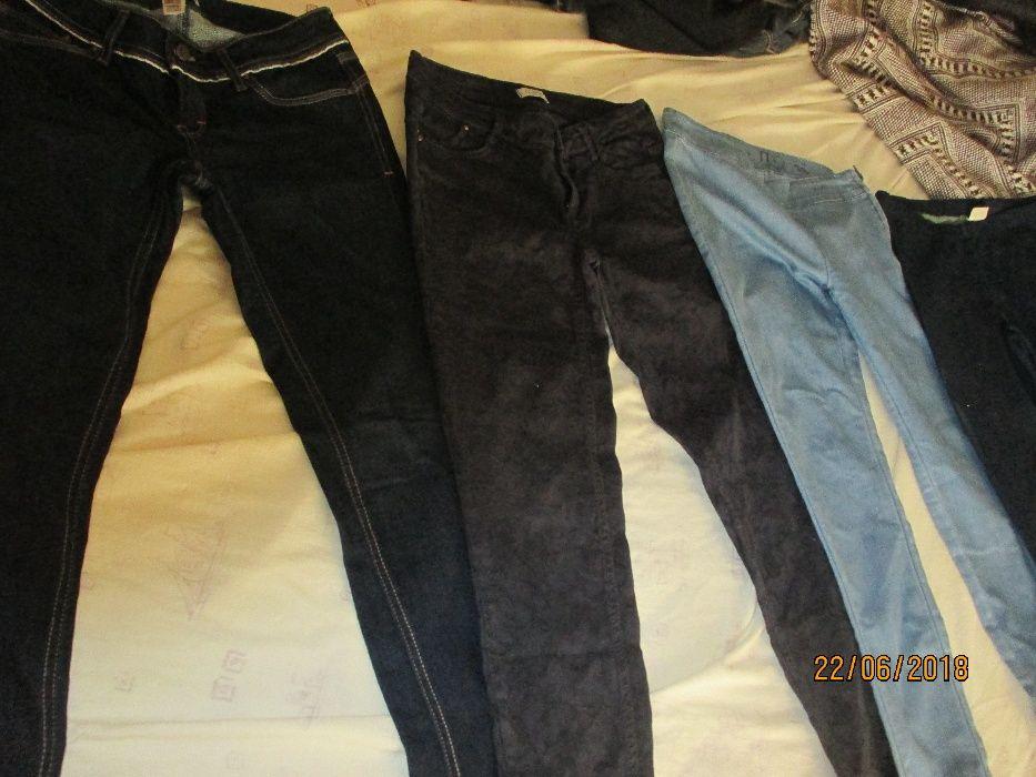 83458c316 4 pares de calças de ganga de senhora