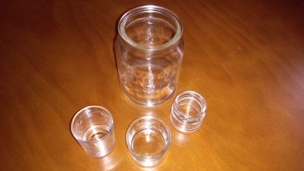 Lote 4 Suportes de vidro para velas ou incenso
