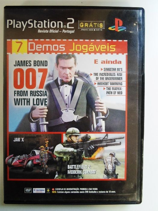Jogo PlayStation 2 // James Bond 007 (7 Demos Jogáveis)