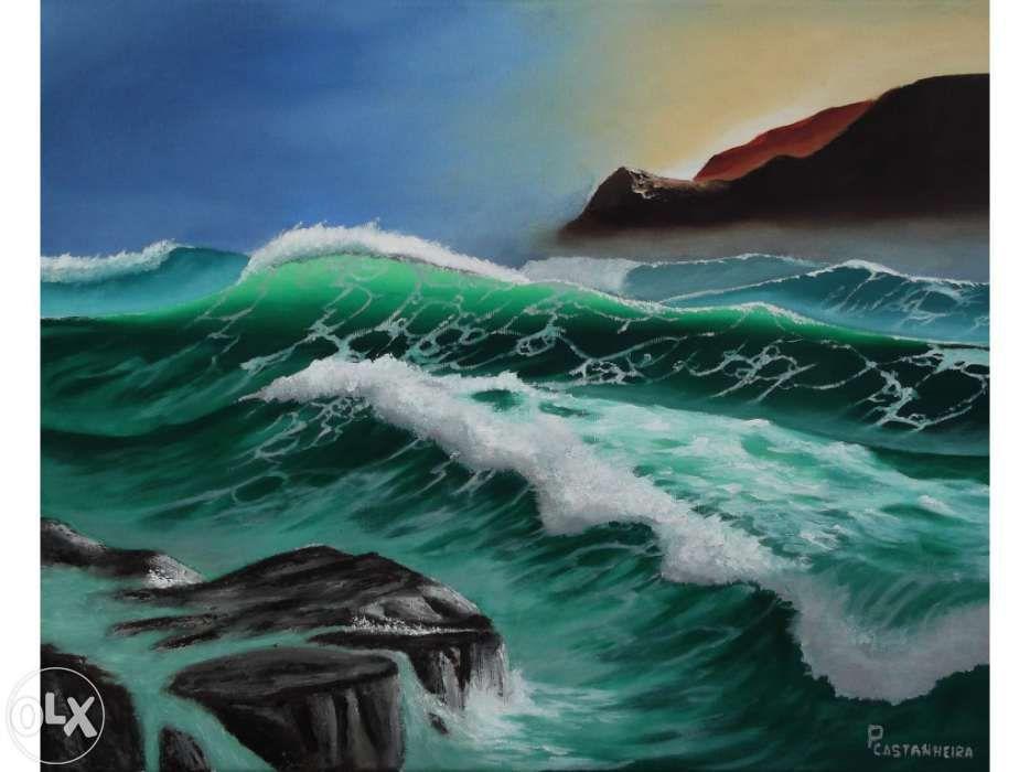 "Quadro a óleo ""The Wild Sea"""