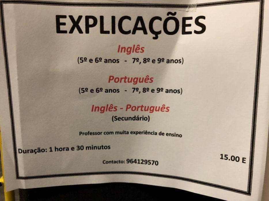 Explicações Português/Inglês