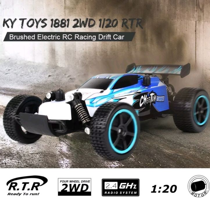 Carro Racing RC eléctrico 2.4GHz Fast Speed (20 Km/h) controle remoto