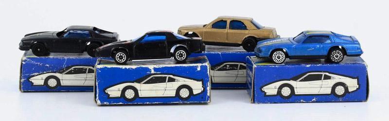 """8 Miniaturas vintage """"SPORT RALLY"""" Anos 60/70 na respectiva embalagem"""