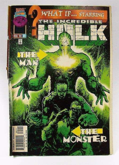 """BD Incredible Hulk - """"WhatIf?"""" Marvel Comics"""