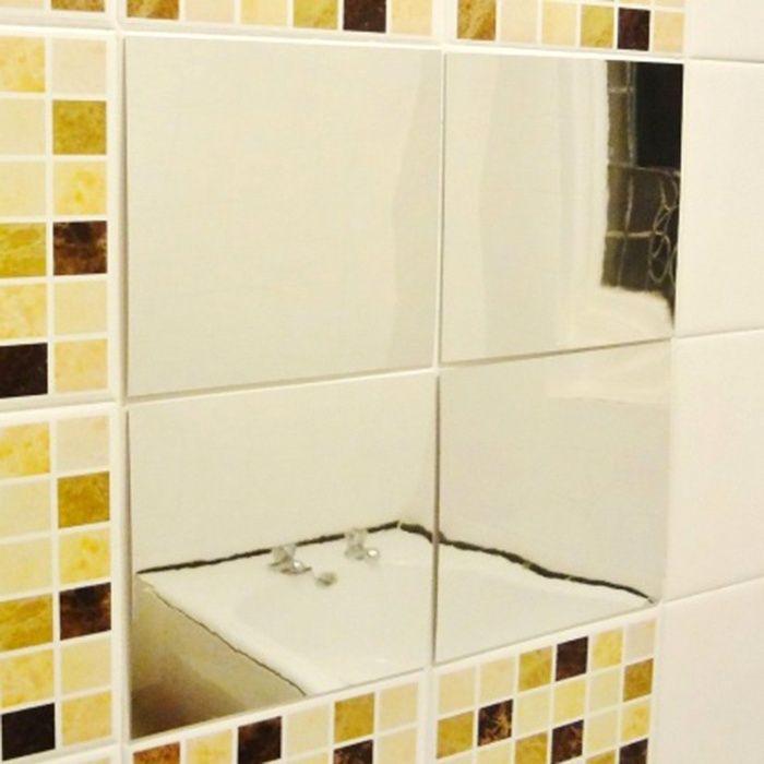 Adesivo de Parede Decalque 3D Mosaico Quadrado Espelho Ponta Delgada (Santa Clara) - imagem 5