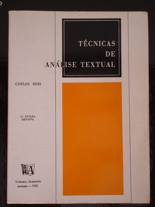 Técnicas de Análise Textual, de Carlos Reis