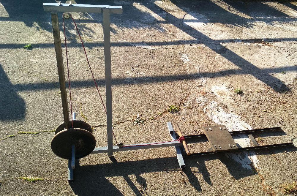 máquina de remo NOVA musculação pesos + banco + carril