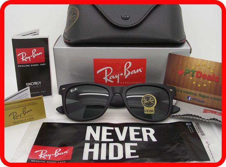 STOCK - Oculos Sol Ray Ban WayFarer RB 2140 - Pretos Foscos