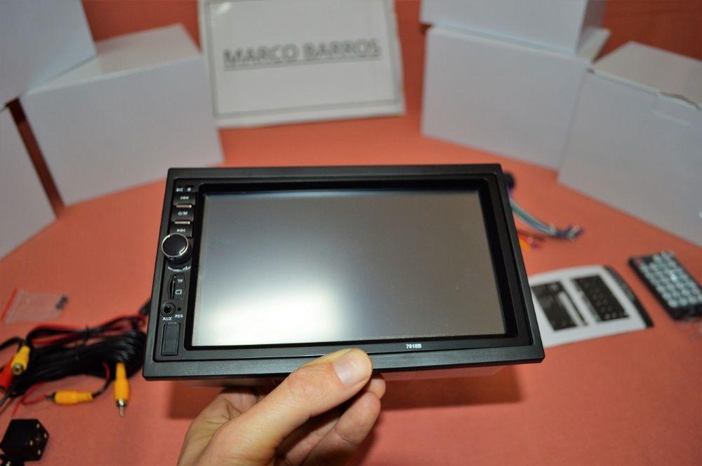 """Rádio 2DIN 7"""" Oferta Câmera + MOLDURA - Bluetooth USB Micro SD Paranhos - imagem 5"""