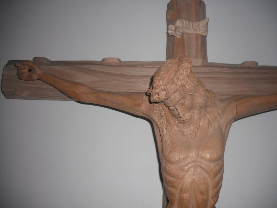 Escultura Arte Sacra Talha Madeira Cristo