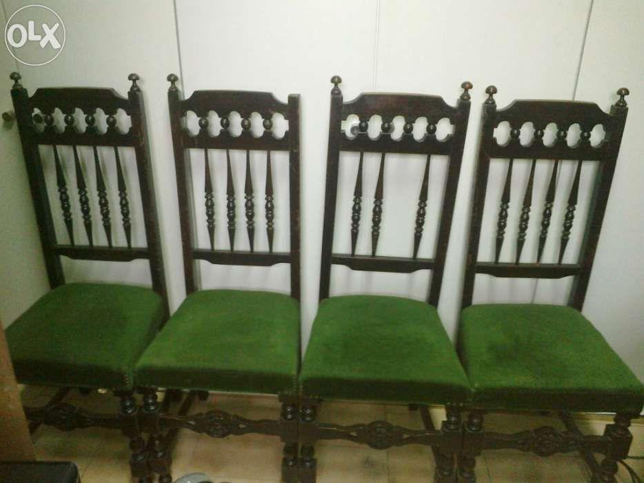 6 Cadeiras de madeira antigas - ou troco