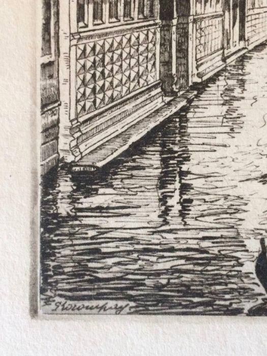 2 Gravuras de Giovanni Korompay – cerca de 1920 São Pedro de Castelões - imagem 7