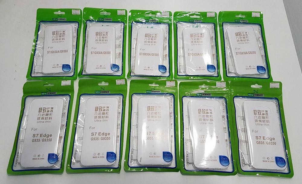 Capas em Silicone Transparentes - Samsung Galaxy s7 e s7 Edge - Novas