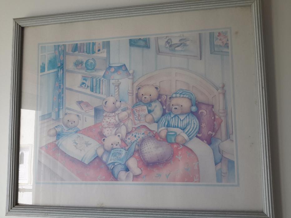 Quadros quarto criança com ursinhos
