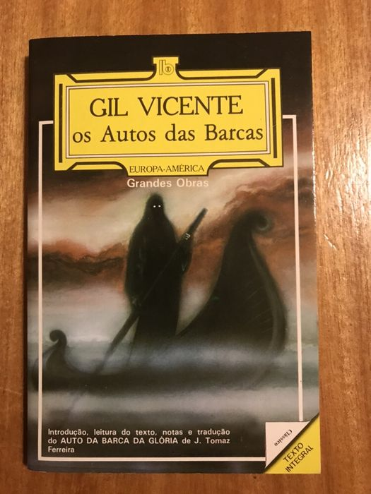 """fd184dc97 Livro """"Os Autos das Barcas"""" de Gil Vicente - Alverca Do Ribatejo E  Sobralinho"""