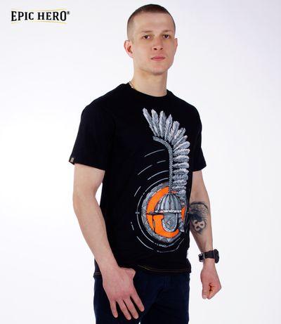 Patriotyczna Koszulka 1 dywizja pancerna (czarna) L Rzeszów  Br849