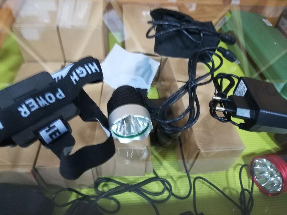 Conjunto Lanterna de bicicleta led 1800lm