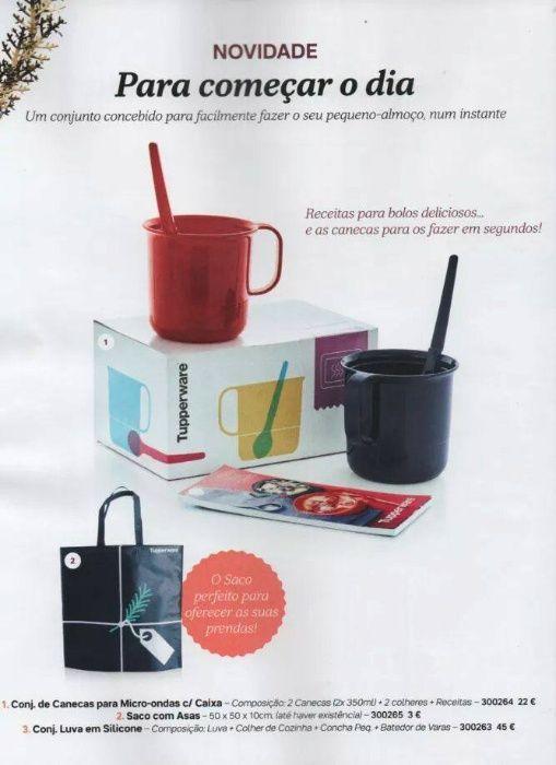 2 Canecas com colheres microondas Tupperware