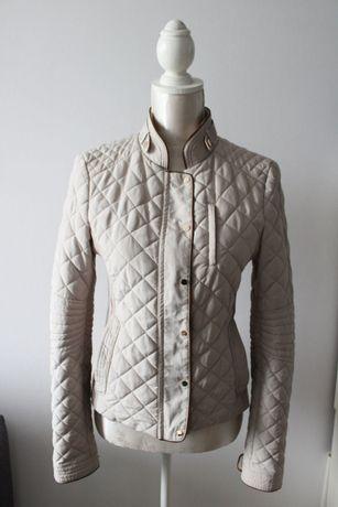 c&a pikowana jesienna kurtka jasny beż 50
