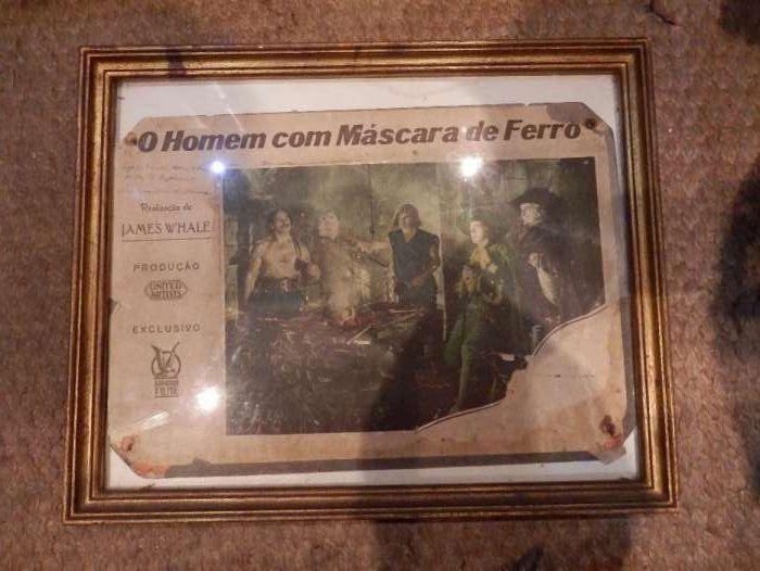 Muito raro Cartaz de Cinema, o Homem da Máscara de Ferro, 1939, Portug