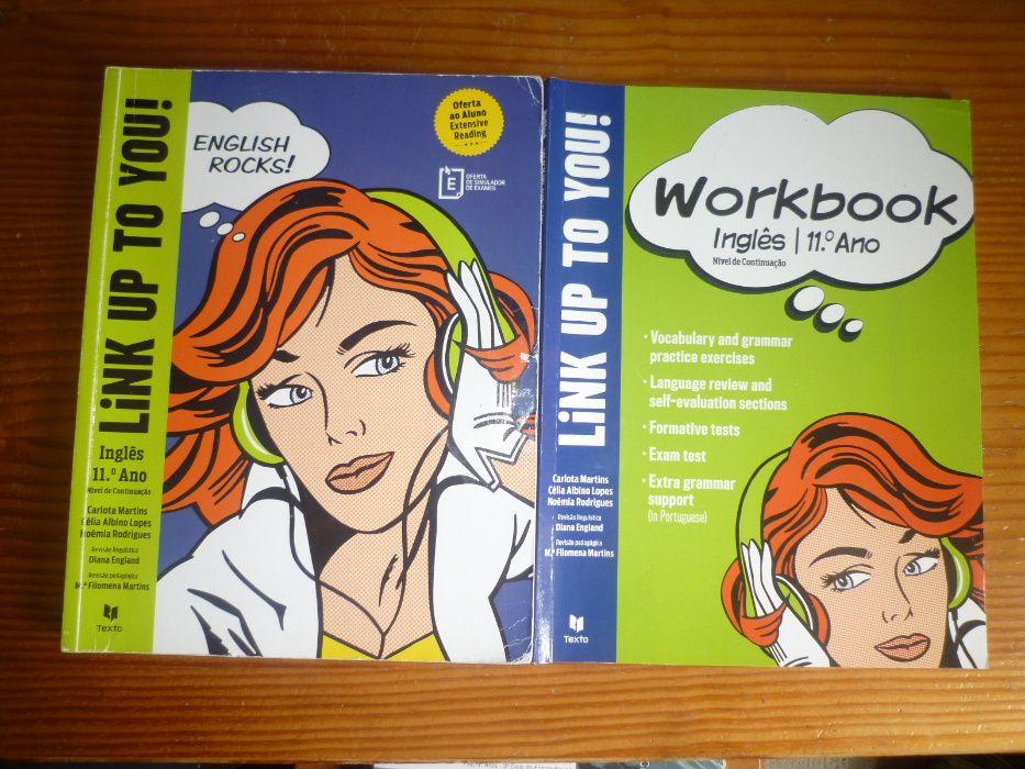 Manuais de Inglês Link up You e caderno de atividades de 11ºo Ano