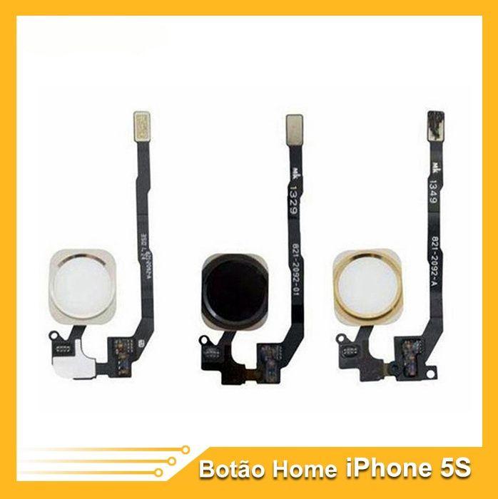Flex Botão Home para iPhone 5S Preto / Branco/ Dourado NOVO